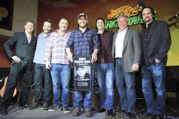 Chris Weaver Band accepts their honor for MusicRow's 2015 Independent Artist of the Year. Photo: Bev Moser/Moments By Moser